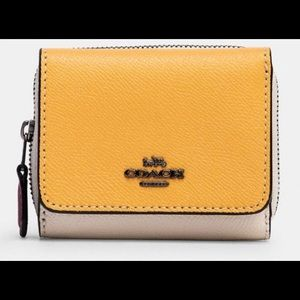 Small COACH Trifold Wallet In Colorblock